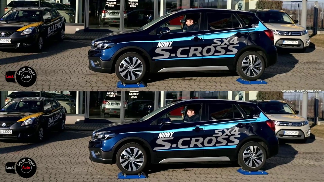 2017 suzuki sx4 s-cross 4x4 1.4 turbo - lock mode vs auto mode