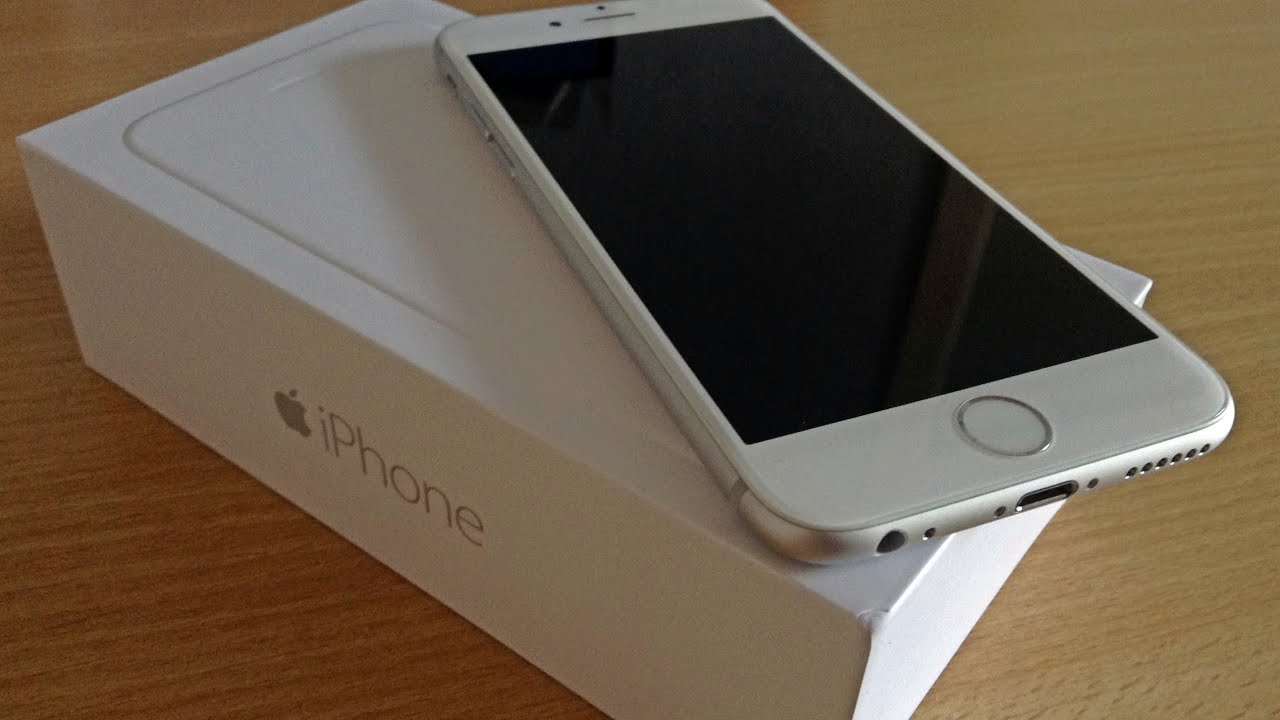 apple iphone 6 silver unboxing german deutsch youtube. Black Bedroom Furniture Sets. Home Design Ideas