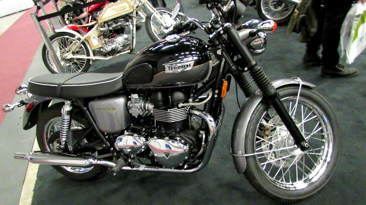 2013 Triumph Bonneville T100 - Walkaround - 2013 Montreal Motorcycle ...
