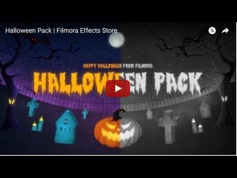 Wondershare Filmora Halloween Pack Download Link | Filmora Effects