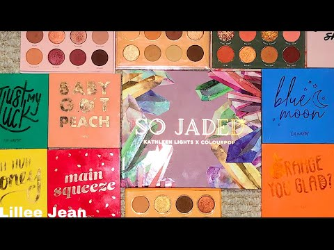 Kathleenlights X Colourpop So Jaded COMPARISON SWATCHES | Lillee Jean thumbnail