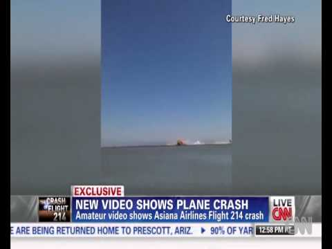 CHOQUE DE AVION!! -Raw Video Fred Hayes Video of Asiana Flight 214 Crash Videos De Viajes