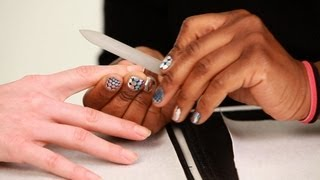 How to Use a Glass Nail File | Manicure Tutorials