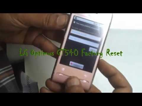 LG Optimus GT540 Hard Reset