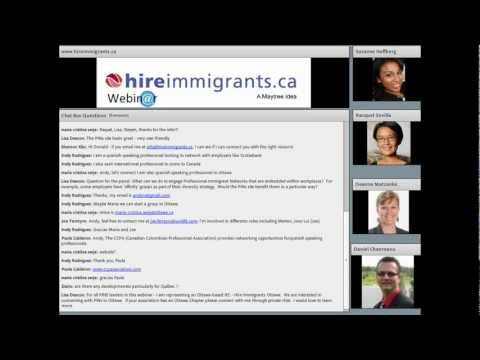 Webinar: Professional Immigrant Networks: Connecting with Immigrant Talent