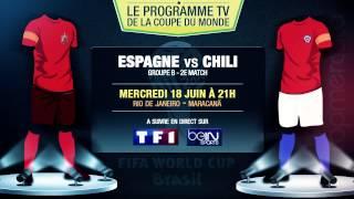 Espagne - Chili, Cameroun - Croatie... Le programme TV du jour !