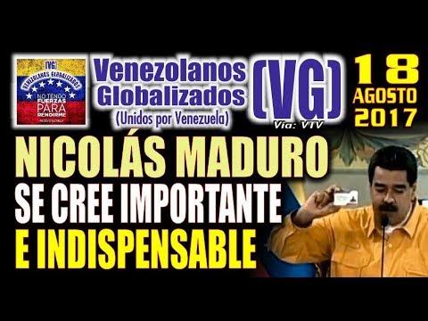 Nicolás Maduro se cree IMPORTANTE e INDISPENSABLE – (VG)