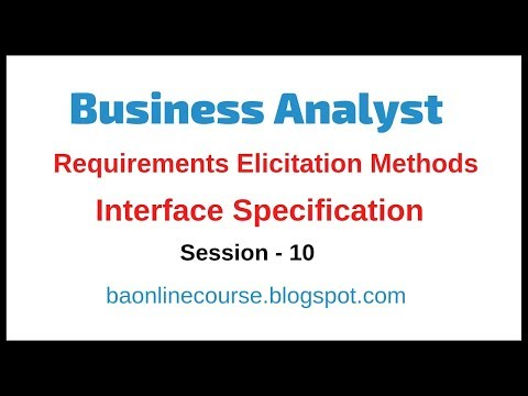 Business Analyst Interface Analysis | Interface Specifications | Functional Specifications Tutorial thumbnail
