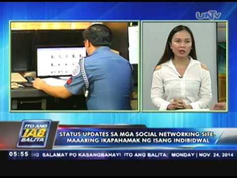 Status updates sa mga social networking site, maaaring ikapahamak — PNP from YouTube · Duration:  5 minutes 15 seconds