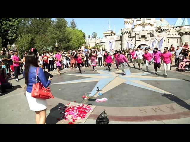 Bhangra Empire Flash Mob Proposal At Disneyland Kiranjit And