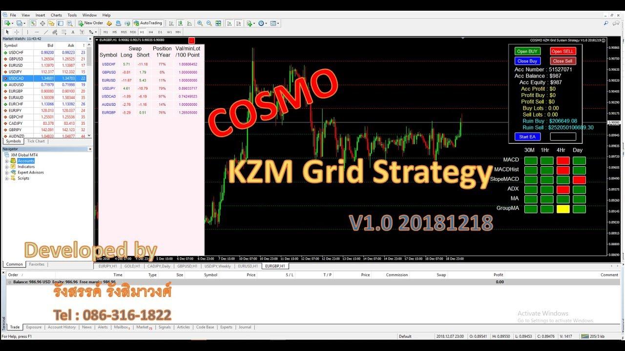 แจกฟรี สุดยอด EA COSMO KZM Grid Strategy (ตอนที่ 1)