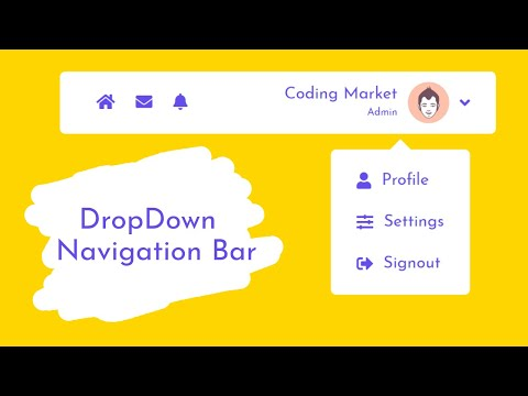 How To Create The Dropdown Navigation Bar Using HTML CSS And Javascript