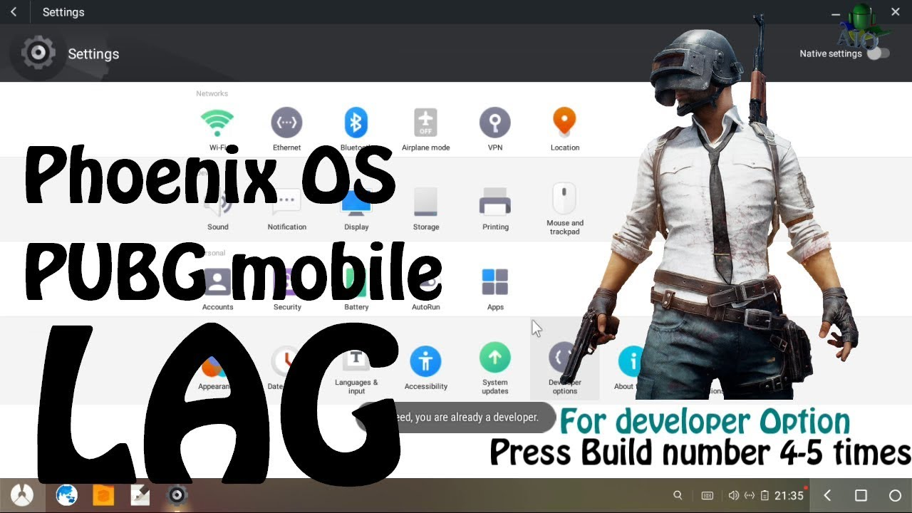 Phoenix OS PUBG Mobile Lag / Glitch / Bug fixing for All CPU