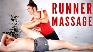 Recover like a Pro! This Sports Massage for runners will help muscles recovery lightening fast