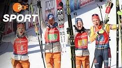 Biathlon-WM: Silber für Damen- und Bronze für Männer-Staffel | das aktuelle sportstudio - ZDF