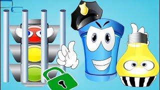 Герой полицейский Веселая погоня Поймать нарушителей часть 1 - Мультик игра для детей