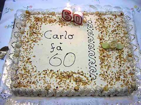 Torta nonno carlo 60anni youtube for Decorazioni per torta 60 anni