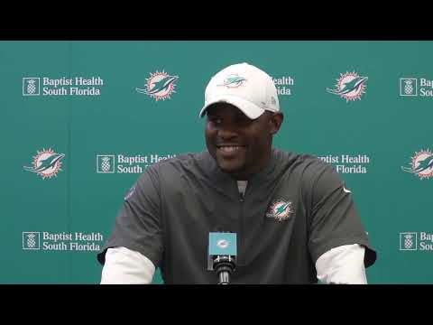 Dolphins Live: Coach Flores meets with the media.