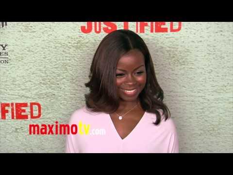 Erica Tazel JUSTIFIED Season 4 Premiere Red Carpet Arrivals January 2013