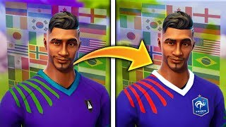 PERSONALISED HIS SKINS on FORTNITE - ALL WORLD CUP SKINS