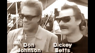 Don Johnson and Dickey Betts 1987 - Blues music live on stage!