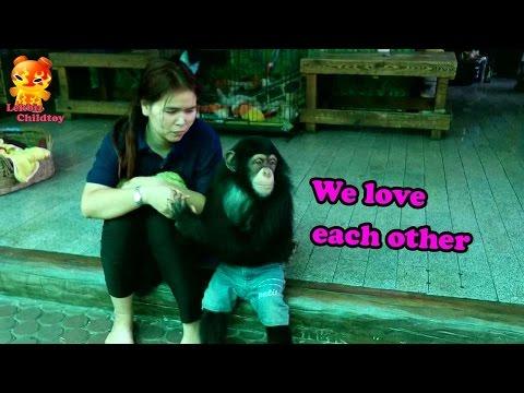 We Love Each Other.... My Chimpanzee  @Samutprakarn Zoo
