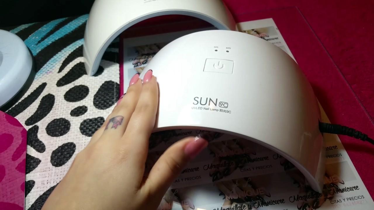 Lampara Uñas Sun 9C UV-LED - YouTube