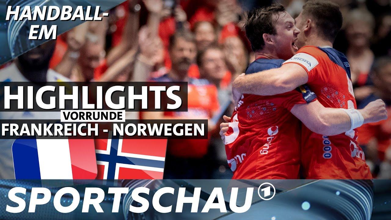 Em Aus Fur Frankreich Norwegen Gewinnt Intensives Duell Handball Em Sportschau