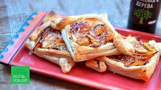 Apple Puff Pastry in Carob syrop. Слойки с яблоками в пекмезе рожкового дерева