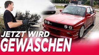 Waschtag bei BBM! BMW E30 wird mit Liquid Elements Artikeln gewaschen - BBM Motorsport