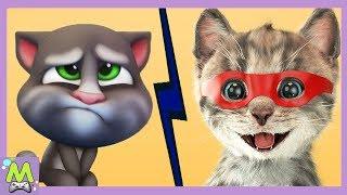Мой Говорящий Том 2 vs Крошка-Котенок.Какой Котик Лучше и Прикольнее.Новый Кошачий Челлендж