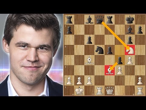 Magnus Carlsen Blunders a Piece in The Opening - Tata Steel chess 2018. | Round 8