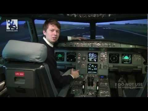 Cross - wind take - off and landing on a Airbus A320. Baltic Aviation Academy