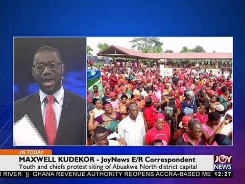 Akyem Tafo Demonstration - Joy News Today (13-12-17)