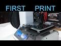 3D Printer Setup - Monoprice Select Mini - First Print