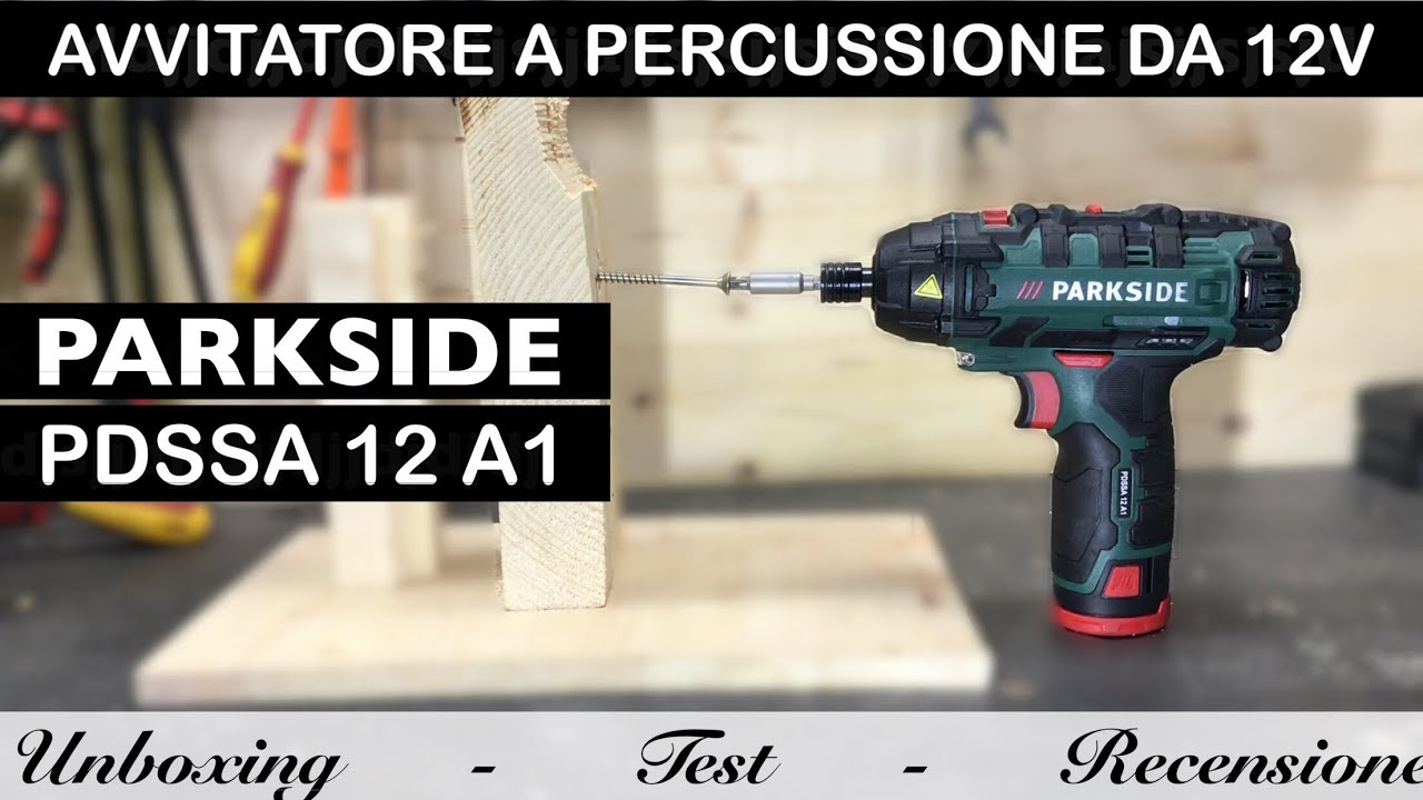 Avvitatore parkside 90 nm a impulsi percussione da 12v for Parkside avvitatore a percussione