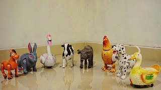 Walking animal toys with sound horse, rabbit, chicken, cow, hen eggs, dog, duck