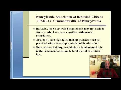 Part 3--History of Legal Issues in Special Education