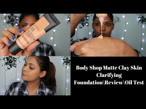 Body Shop Matte Clay Skin Clarifying Foundation\Review\Oil Test