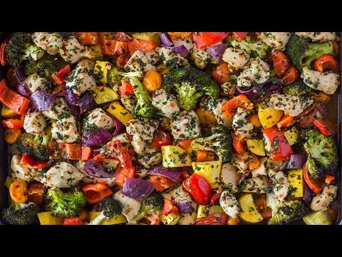 Easy 20 Minute Sheet Pan Garlic Herb Chicken & Veggies