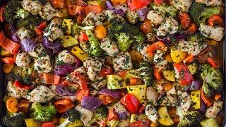 Sheet Pan Garlic Herb Chicken & Veggies