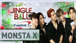 MONSTA X On Celebrating Christmas + Receives Surprise Gift At KISS Jingle Ball