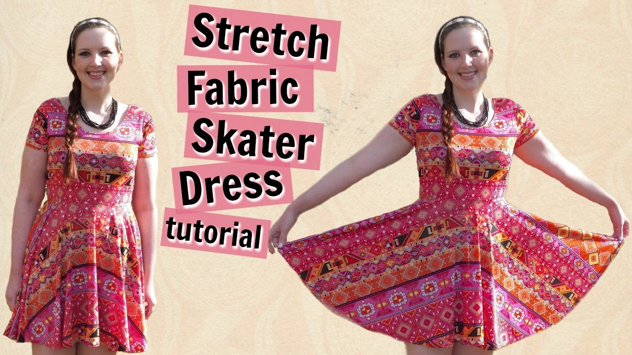 DIY Skater Dress with Sleeves + Circle Skirt - How to Sew Stretch ...
