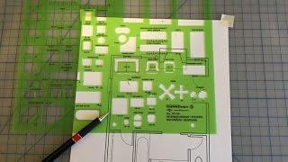 Manual Drafting: Using a Furniture Template