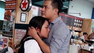 Vợ chồng Hoàng Anh ôm nhau khóc ở sân bay vì phải tạm xa - Tin Tức Sao Việt