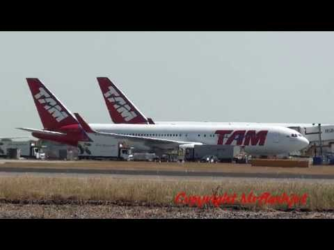 TAM Linhas Aereas Brasil  767-300 and 777-300 HEATHROW FLIGHT ARRVALS Plane Spotting Guide