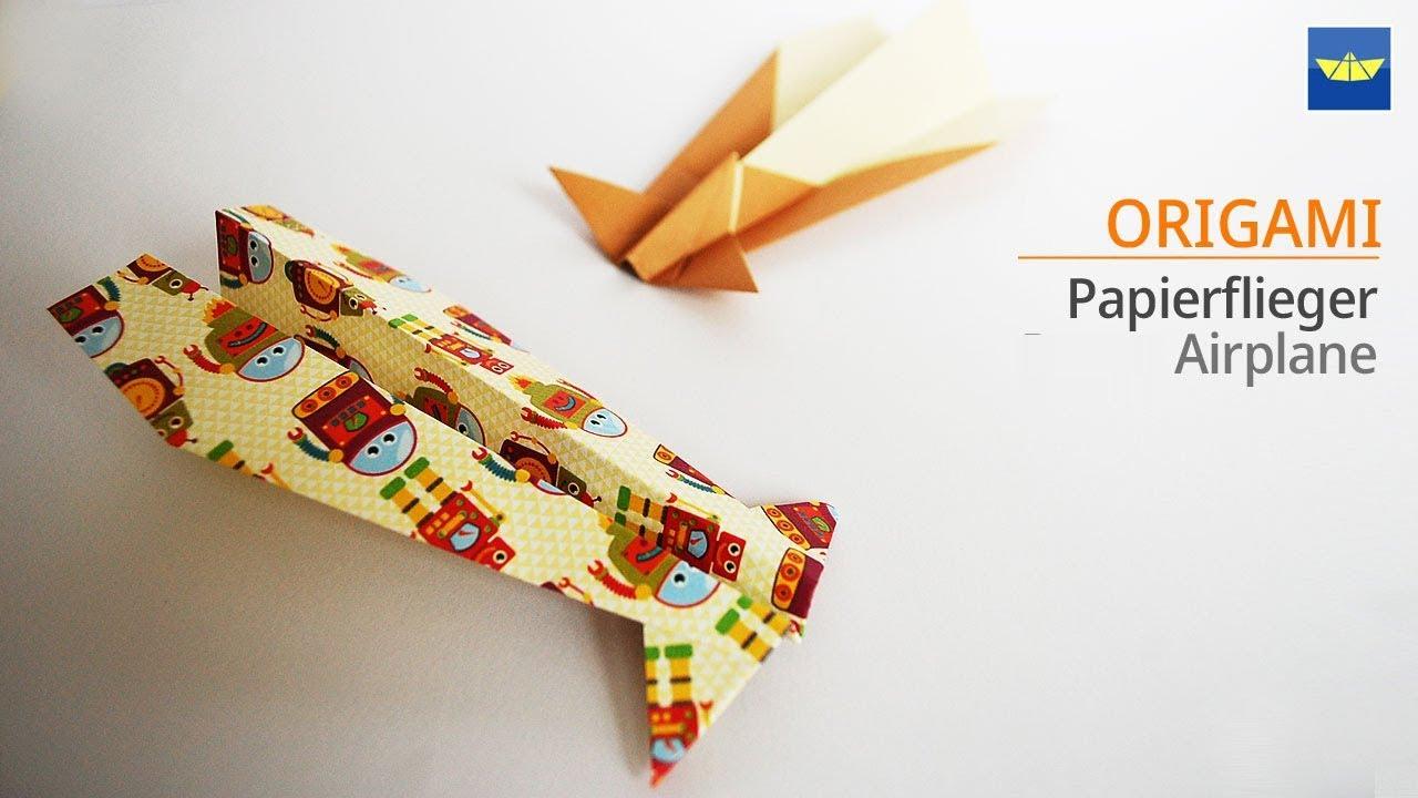 Origami Papierflieger Flugzeug Basteln Diy Bastelideen Selber Machen Basteln Mit Papier