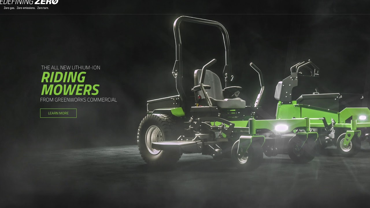 Greenworks Commercial Zero Turn Mowers Video | OPE Reviews