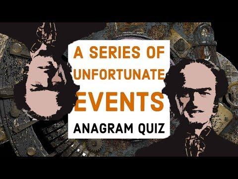A Series of Unfortunate Events Season 2 Anagram Quiz