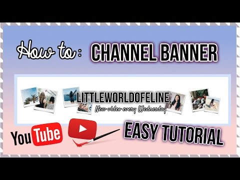 How To Make A YouTube Banner / Channel Art Tutorial thumbnail